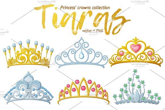 Tiara Crowns Vector Collection