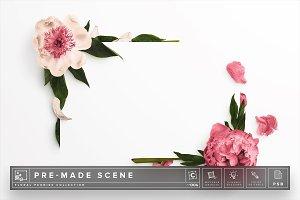 Floral Peonies Mockup Scene #006