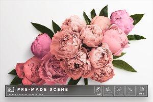 Floral Peonies Mockup Scene #007