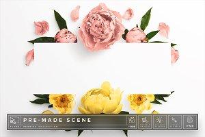Floral Peonies Mockup Scene #008