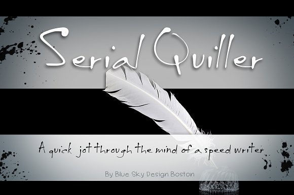BSD Serial Quiller Font