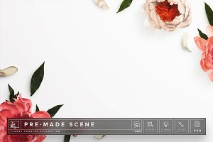 Floral Peonies Mockup Scene #009