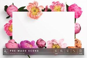 Floral Peonies Mockup Scene #010