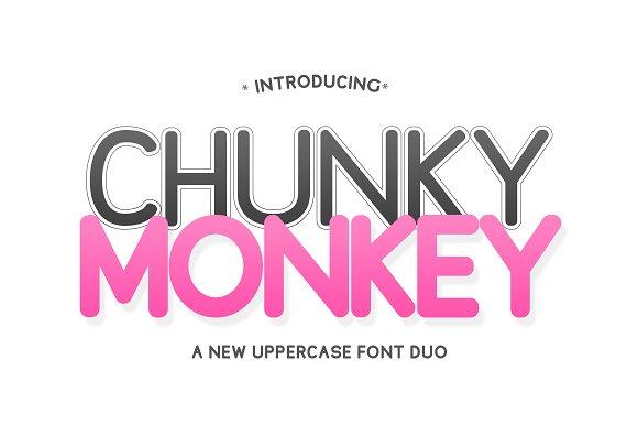 Chunky Monkey Font Duo