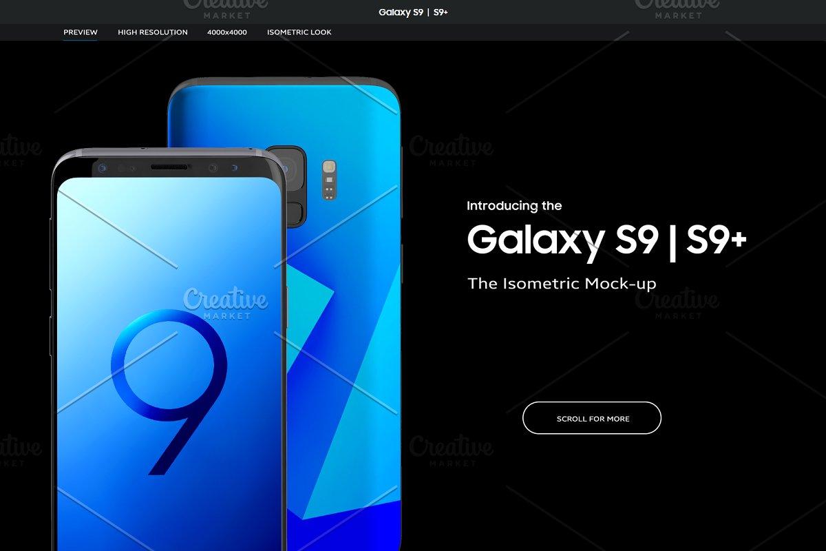 Samsung Galaxy S9 | S9+ Mock-up ~ Mobile & Web Mockups