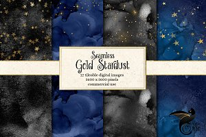 Seamless Gold Stardust