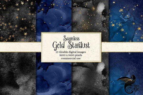 Seamless Gold Stardust