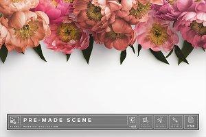 Floral Peonies Mockup Scene #013