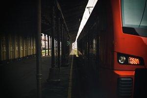 Empty trains station