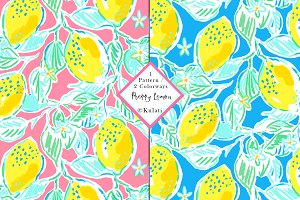 Preppy Lemon Seamless Pattern