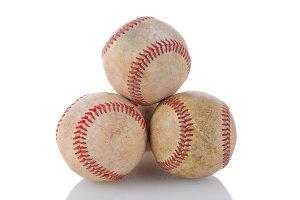 Stack of Used Baseballs