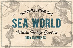 154 Vintage Sea Illustrations