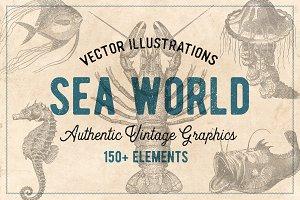 154 Vintage Sea Illustrations