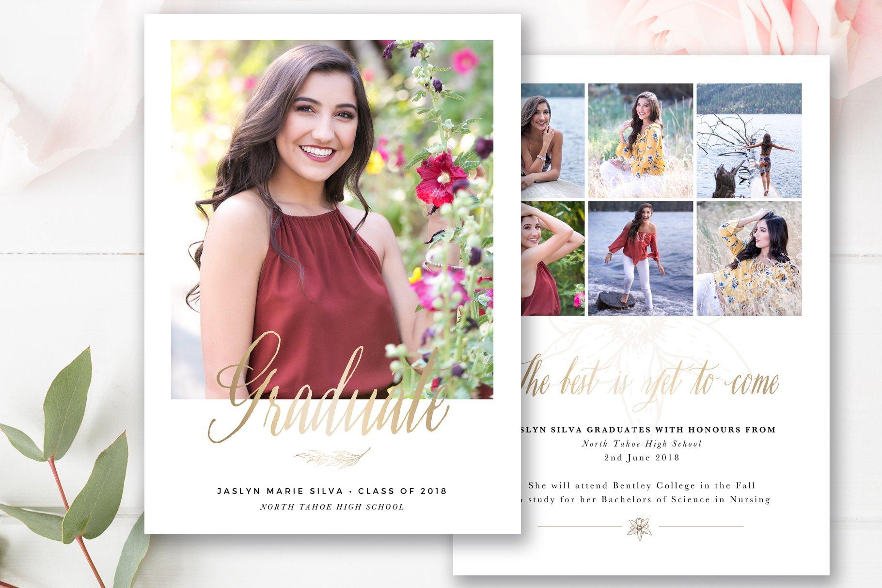 Senior Graduation Announcement ~ Card Templates ~ Creative Market