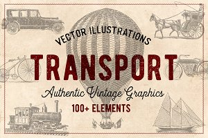 100 Vintage Vehicles (Vector)