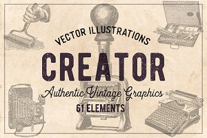 61 Vintage Printing Vectors