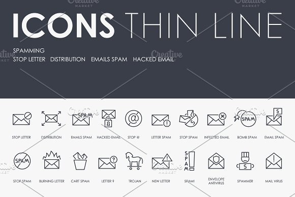 Spamming Thinline Icons