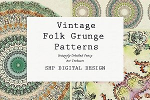 Folk Grunge Patterns:  Vintage 1