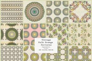 Folk Grunge Patterns:  Vintage 1