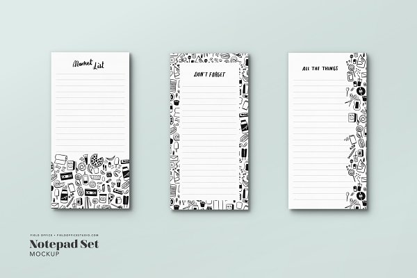 Notepad Mockup Bundle