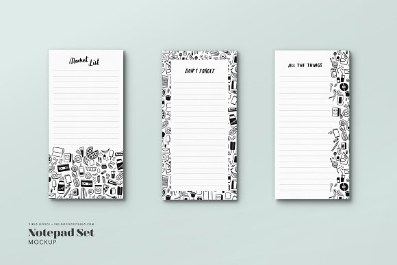 Download Notepad Mockup Bundle