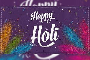 Happy Holi - Vector Colorful Banner