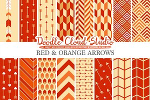 Red and Orange Arrows digital paper