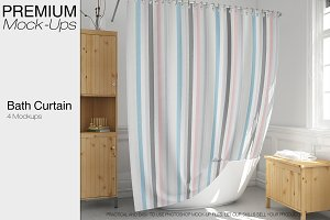 Bath Curtain Mockup Pack