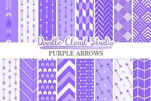 Purple Arrows digital paper