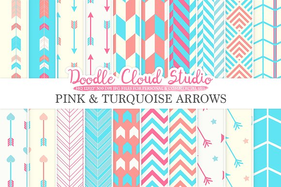 Pink $ Turquoise Arrows