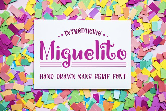 Miguelito Hand Drawn Font