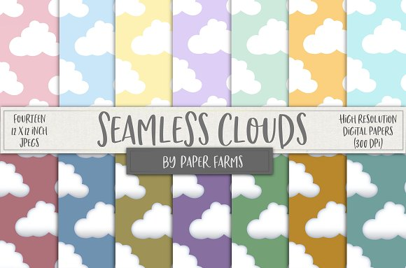 Seamless Pastel Clouds