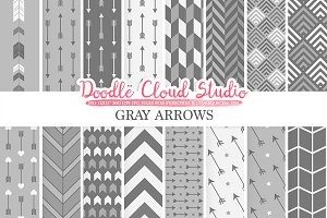 Gray Arrows digital paper