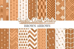 Brown Arrows digital paper