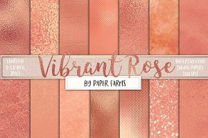 Rose gold foil digital paper