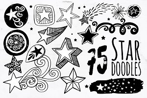 Star PNG Vector, Star Doodle ClipArt
