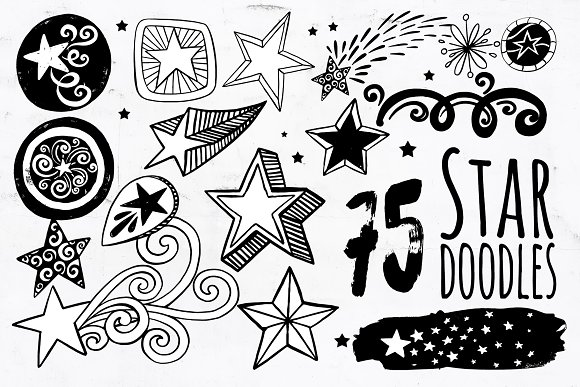 Star PNG Vector Star Doodle ClipArt
