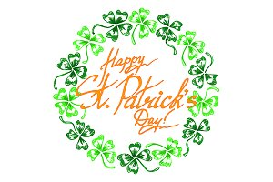 Happy St. Patrick's Day clover art