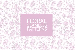 Floral Seamless Pattern (3 sizes)