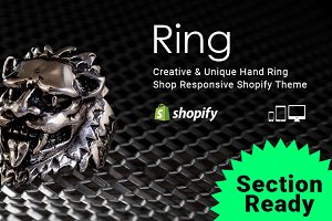 Ring- Parallax Section Shopify Theme