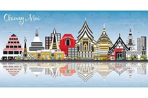 Chiang Mai Thailand City Skyline