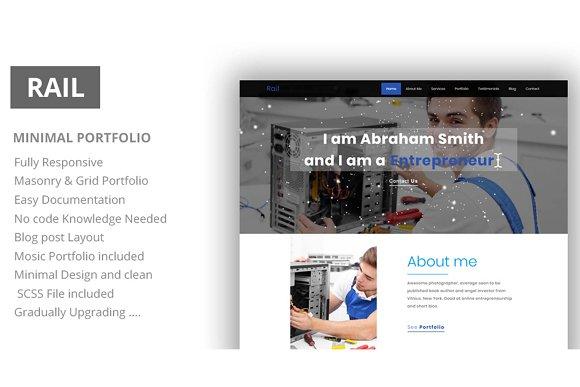 Rail Personal Portfolio HTML Templ