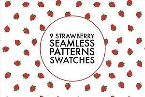9 Seamless strawberry pattern swatch