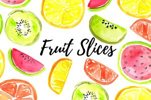 Summer Fruit Slice Clipart