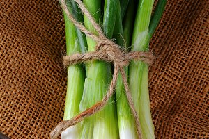 Closeup of Green Onions