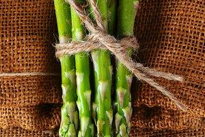Asparagus on Burlap