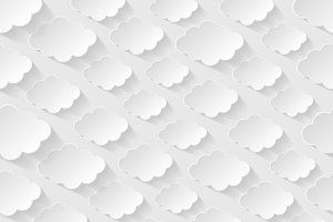 Seamless patterns with paper clouds