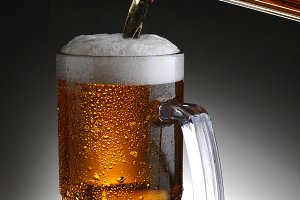 Mug of Beer and Pitcher Pour