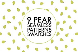 9 Seamless Pear Pattern Swatches