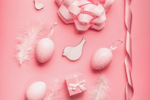 Pretty Easter pink composing